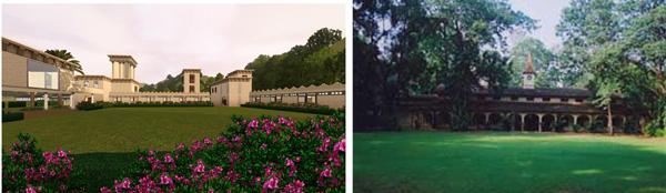 Private studfarms in Dubai (left) and India (right) Private Gestüte in Dubai (links) und Indien (rechts)