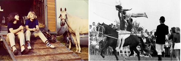 In the 1960 - our life around the stables was simple and happy. Most of us vaulted before becoming riders. In den 1960er Jahren war unser Stalleben einfach und glücklich. Die meisten voltigierten bevor sie Reiter wurden.